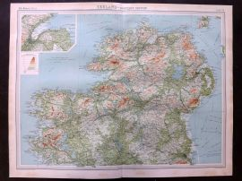 Bartholomew 1922 Large Map. Ireland - Northern Section
